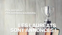 Les lauréats du prix Ahmadou Kourouma du salon du livre de Genève
