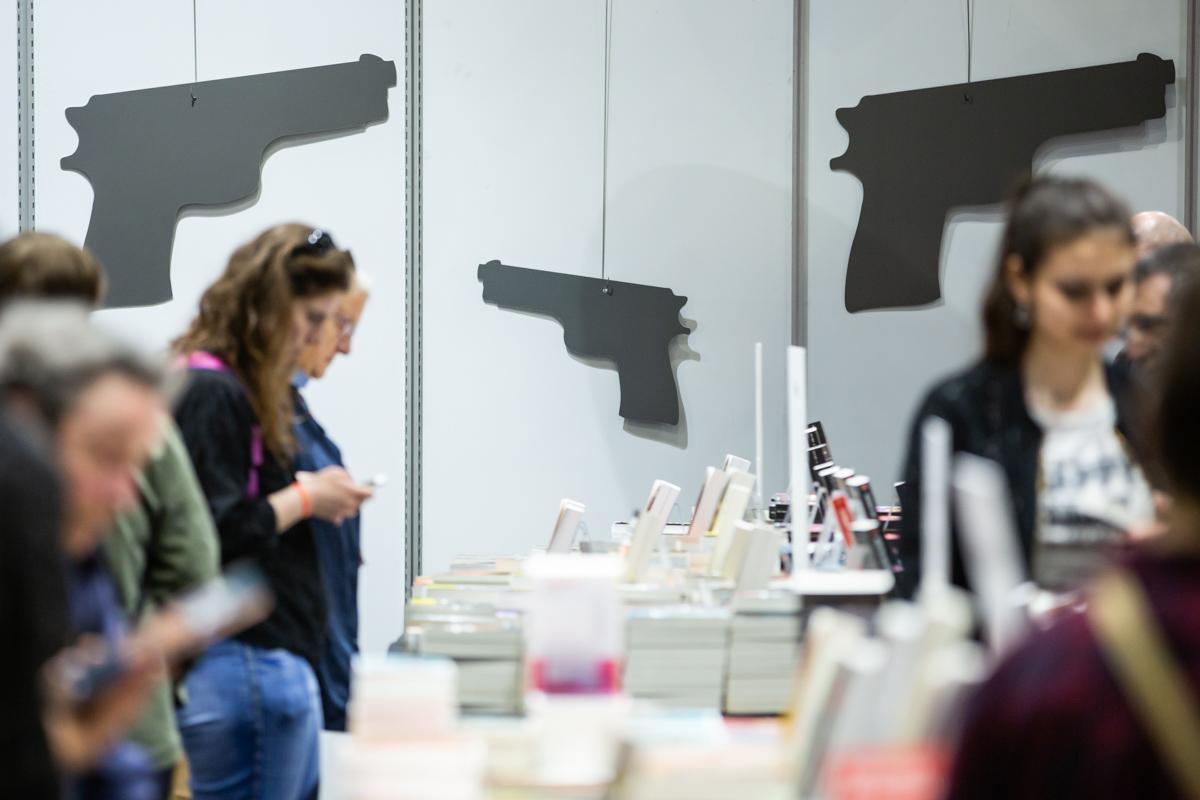 La librairie du polar, scène du salon du livre de Genève