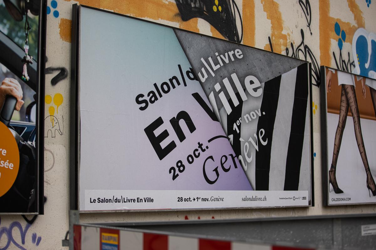 affiche salon du livre en ville