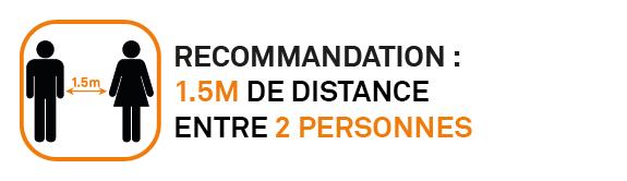 Distance recommandée
